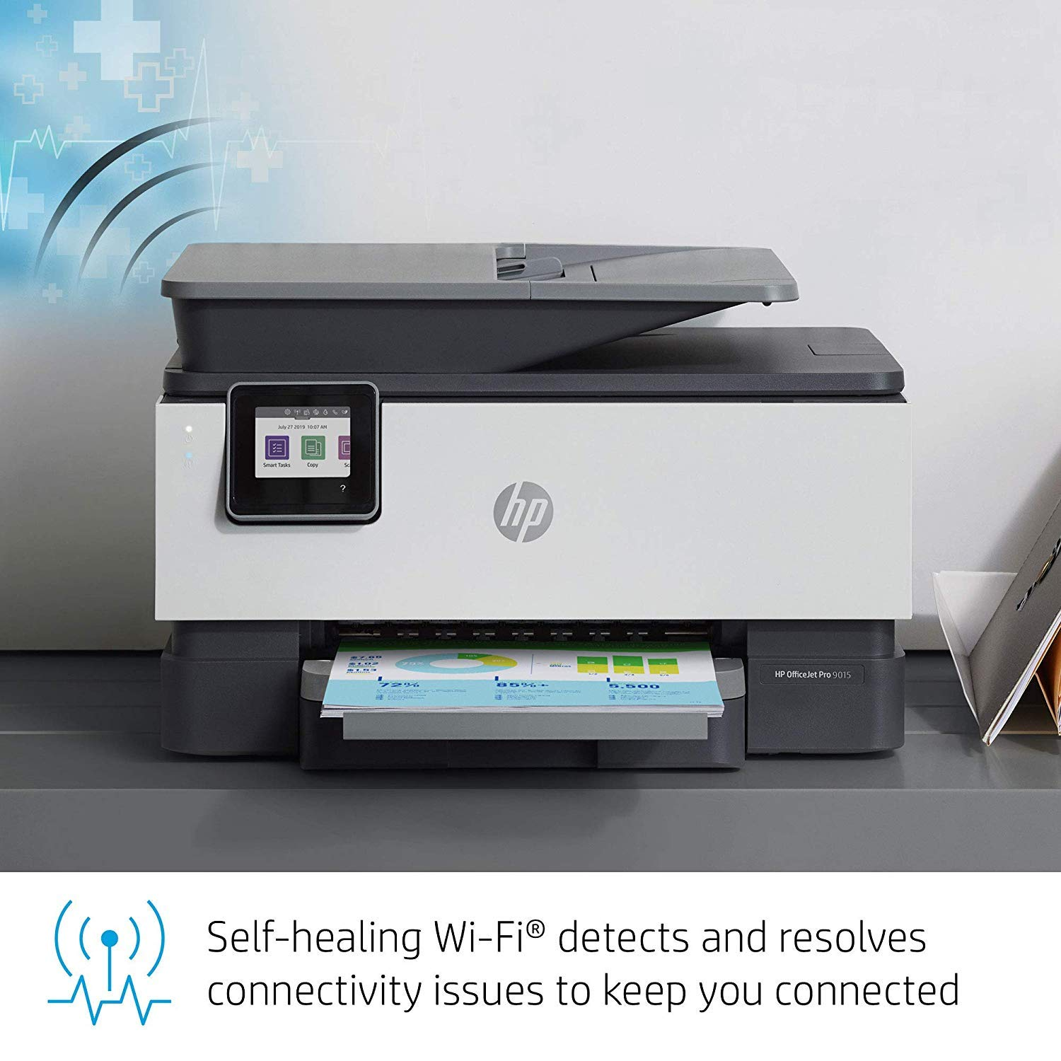 HP OfficeJet Pro 9015 All-in-One Wireless Printer with Smart Tasks for Smart Office Productivity /& Never Run Out of Ink with HP Instant Ink 1KR42A