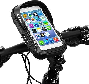 runhua Bolsa Bicicleta Manillar, Soporte Teléfono para Bicicleta Impermeables 360° Rotación, Bolsa Movil Bicicleta para Teléfono Inteligente por Debajo de 6 Pulgadas: Amazon.es: Deportes y aire libre