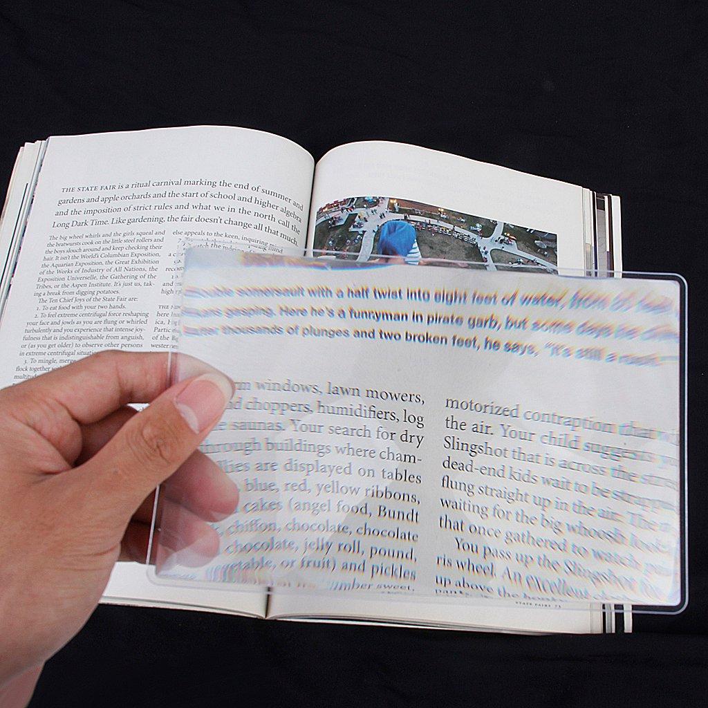 Fogli Ingrandimento Lente 3x Ingrandire 18x12cm Per lettura Libri Riviste