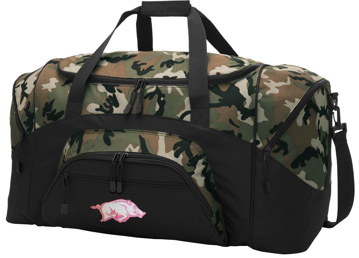 Amazon.com   Large Arkansas Razorbacks Duffel Bag CAMO Womens University of  Arkansas Suitcase Duffle Luggage Gift Idea for Men Man Him!   Sports    Outdoors 726b050320