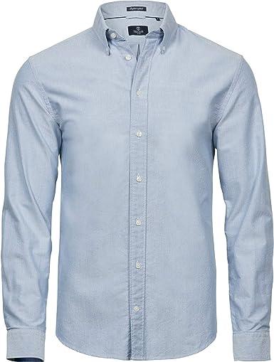 Tee Jays - Camisa Oxford de Manga Larga Chico Hombre: Amazon.es: Ropa y accesorios