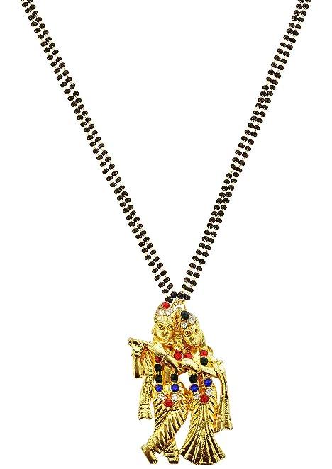 Amazon mehrunnisa contemporary big radha krishna pendant with mehrunnisa contemporary big radha krishna pendant with crystals mangalsutra necklace for women jwl1864 aloadofball Gallery