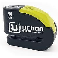 urban Security UR10 candado antirrobo Disco con Alarma 120dba + Warning, Alta Seguridad Homologado CLASSE Sra, Eje 10 mm…