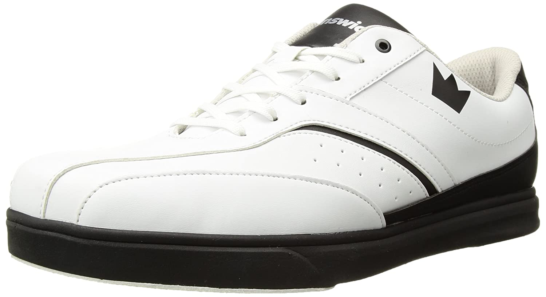 Brunswick Vapor Mens Bowling Shoe White/Black ace mitchell