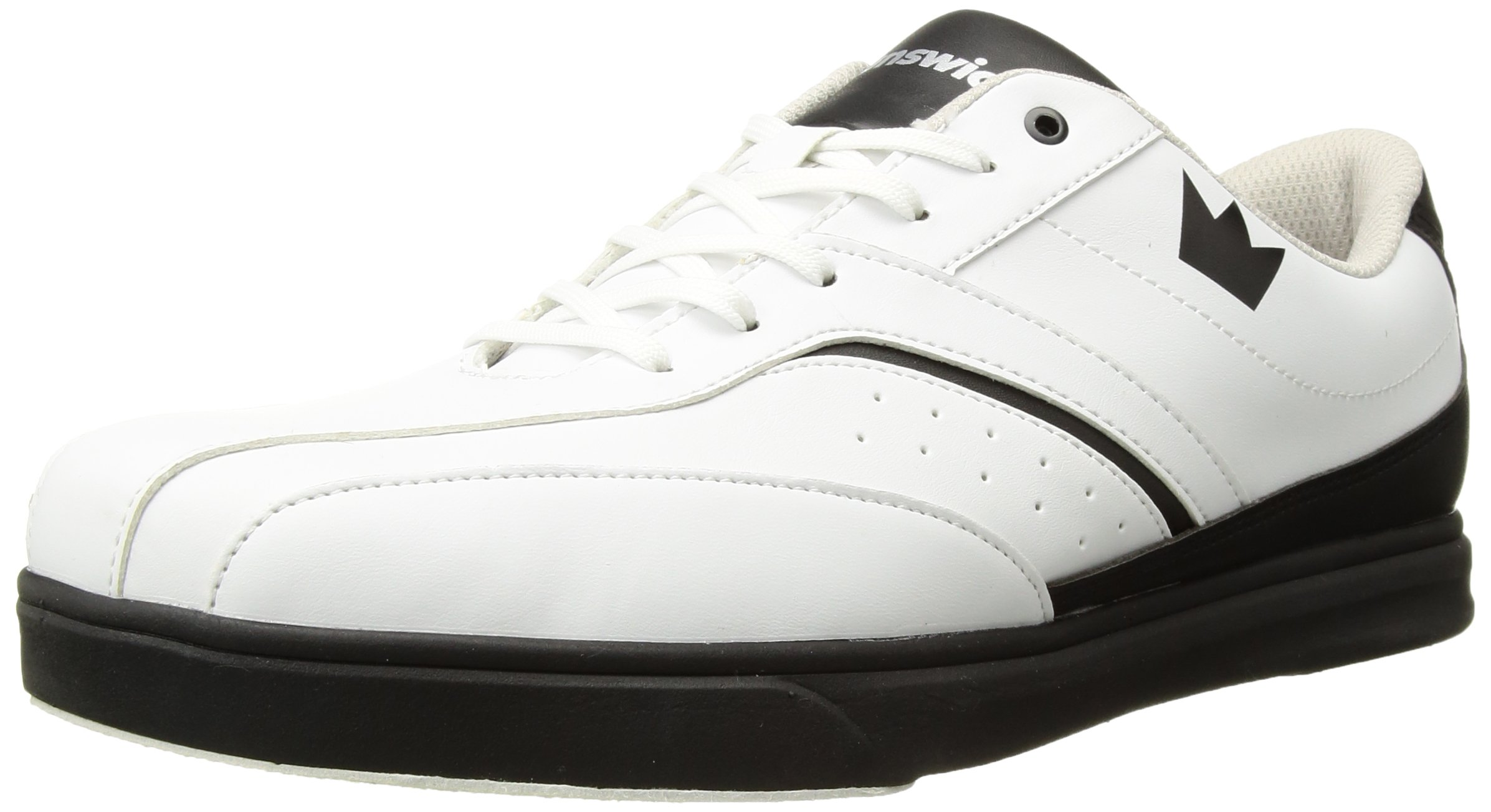 Brunswick Vapor Mens Bowling Shoe White/Black, 7.0 by Brunswick