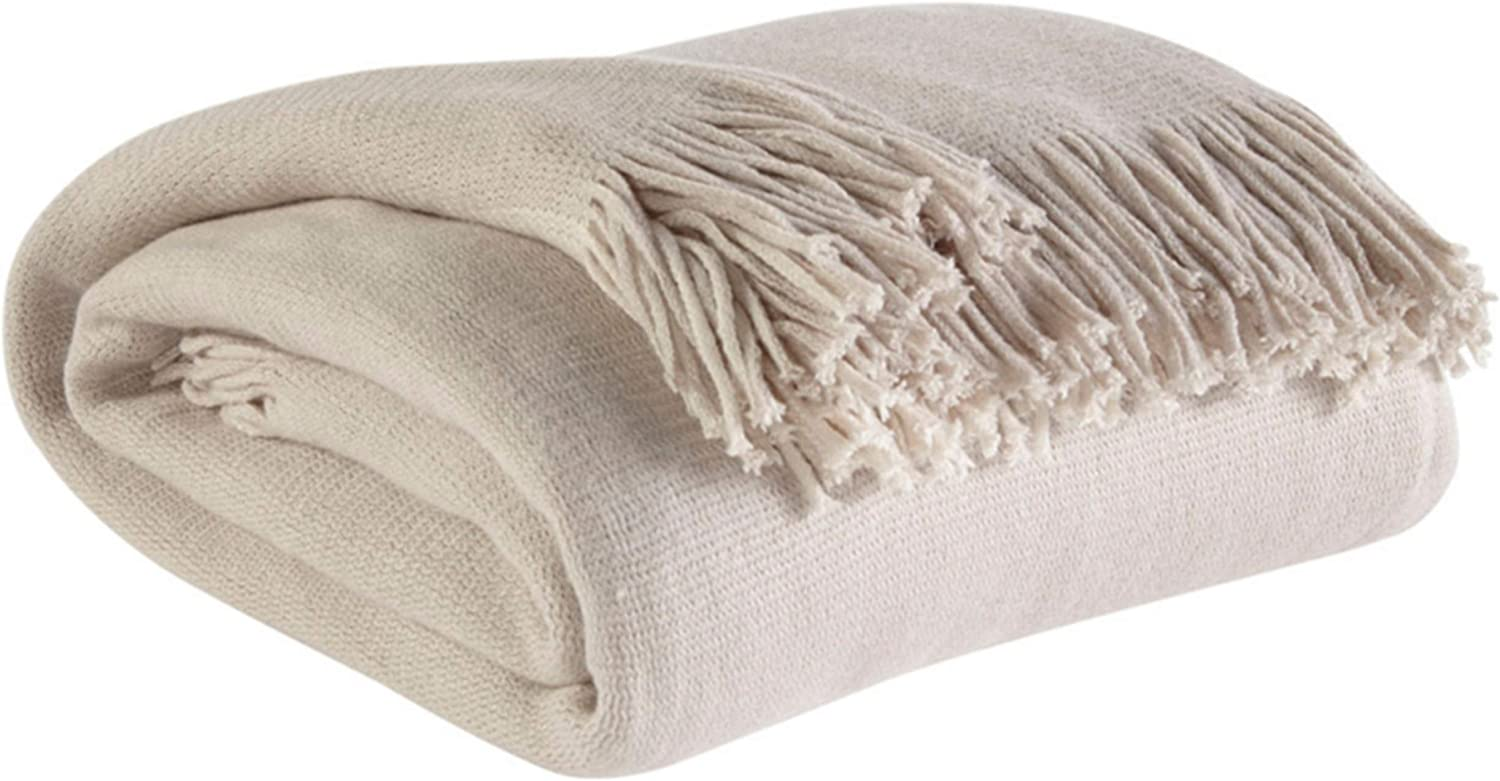 Ashley Furniture Signature Design - Haiden Throw - Traditional - Ivory/Taupe