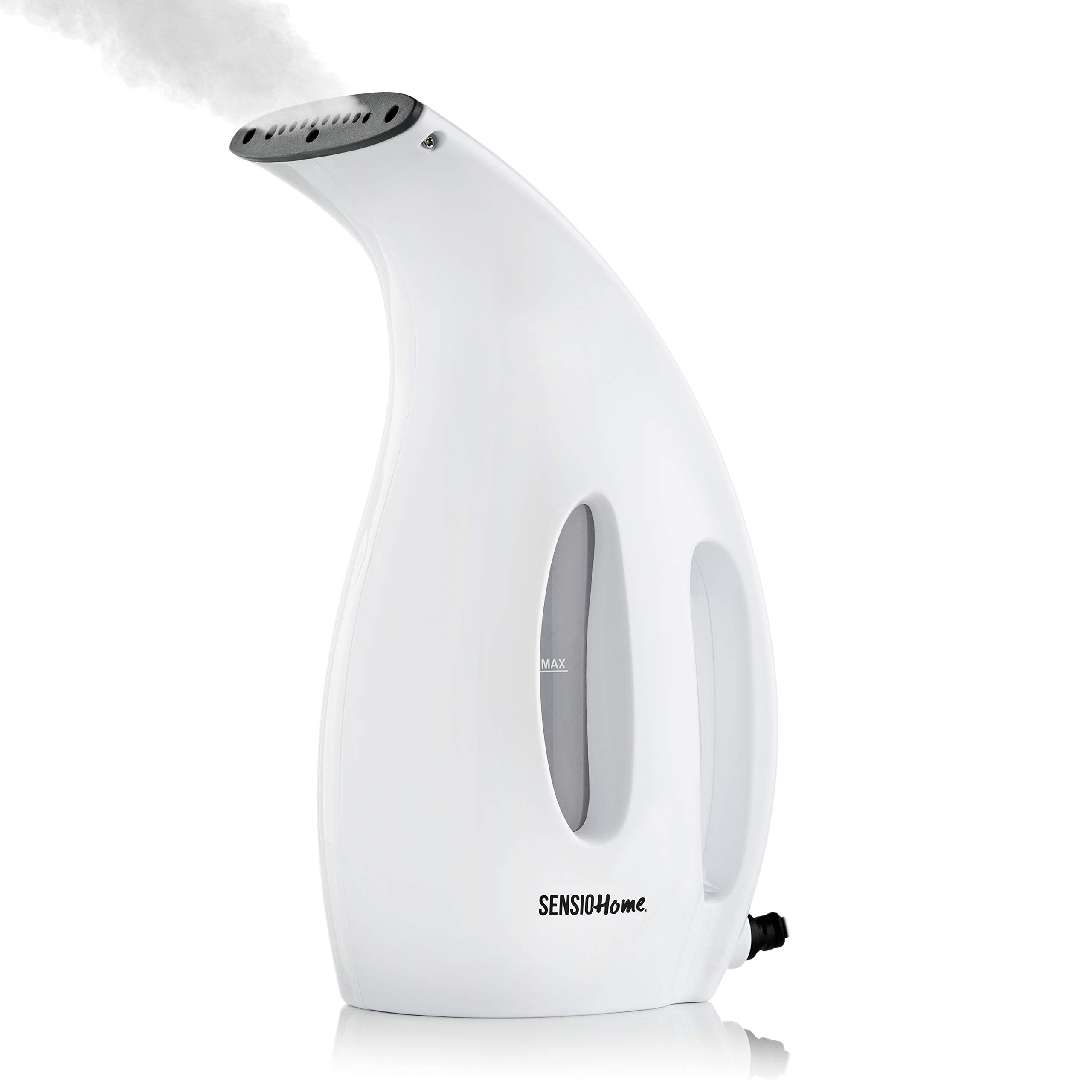 SENSIOHOME Sensio Home Clothes Steamer   Handheld Garment Steamers with 180ml Capacity   Electric Portable Lightweight Steam Iron Perfect for Travel   900 Watts   White