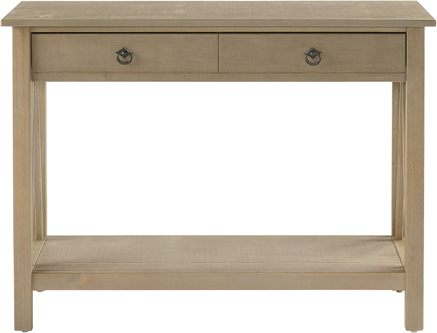 Linon Titian Rustic Gray Console Table, 42 W x 13.98 D X 30.7 H, Driftwood
