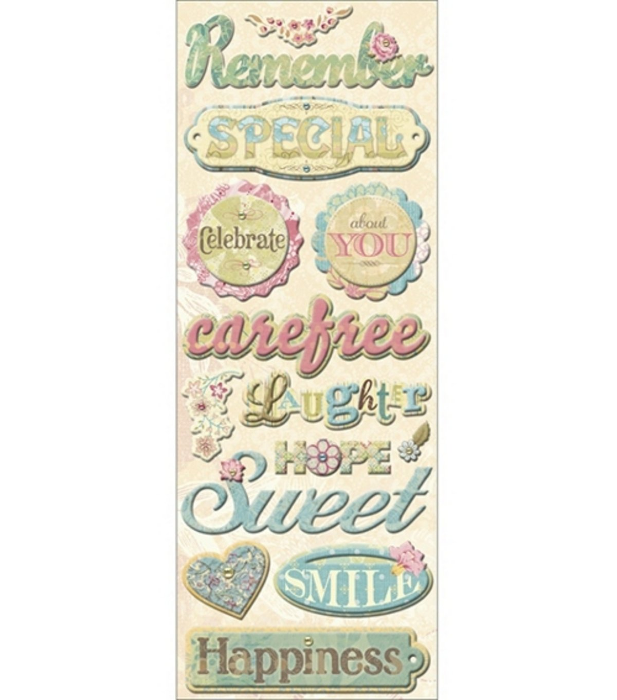 K and Company All Occasion Words Adhesive Chipboard EKS 566729 EP44372758