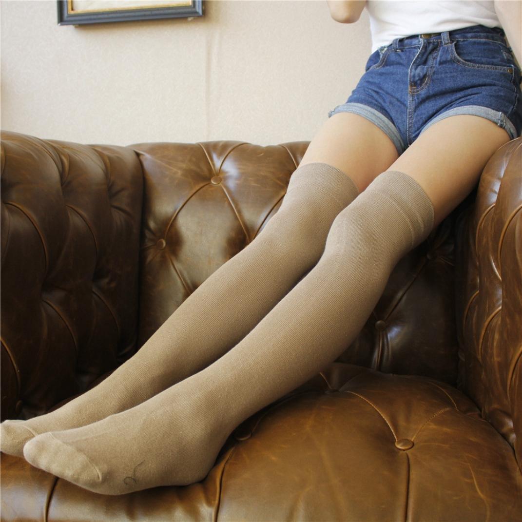 Women Over The Knee Thigh High Stretch Long Socks Leg Warmers