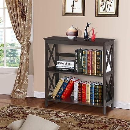 sneakers for cheap 645d5 6c536 Amazon.com: LOVELABEL 3 Tier Bookcase Bookshelf Side Table ...