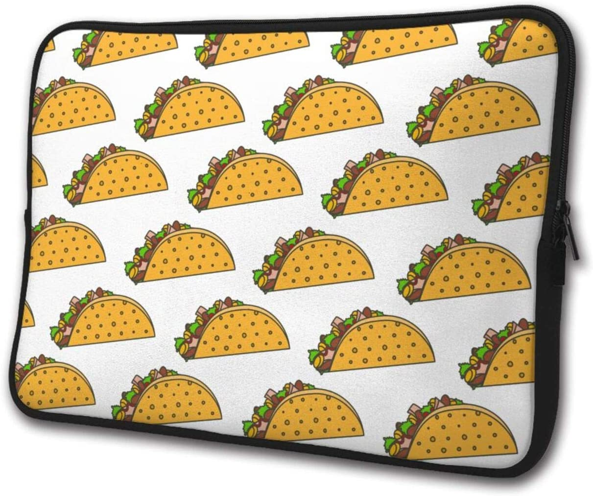 Burrito Food with Tacos Pattern Laptop Sleeve Case Briefcase Cover Protective Computer Bag