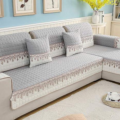 Amazon.com: SANDM Jacquard Sofa slipcover, Anti-Slip Sofa ...