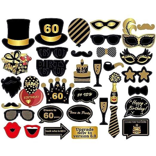 Accesorios para fotomatón de fiesta de 60 cumpleaños para ...