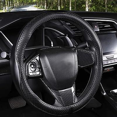 Orange Silicone Steering Wheel Cover fit for Honda CR-V Chevrolet Silverado RAM