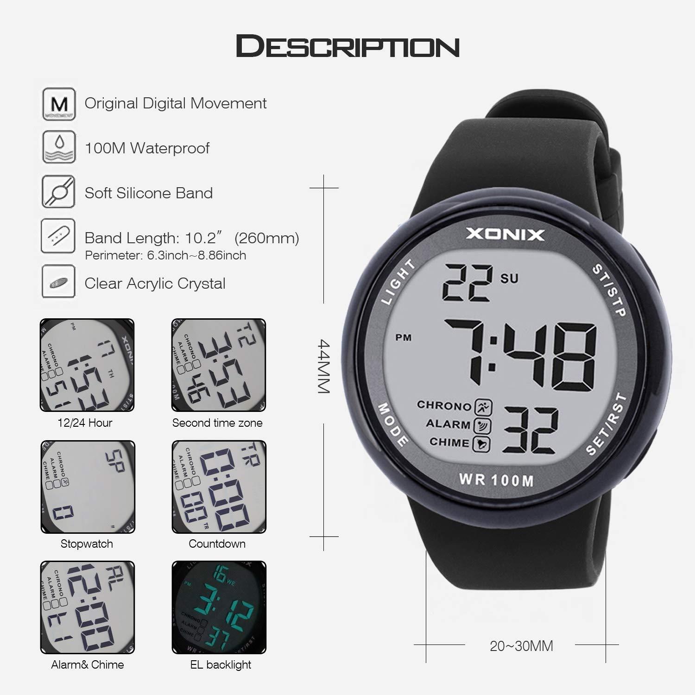 Amazon.com: Vogue - Reloj deportivo para hombre, sumergible ...