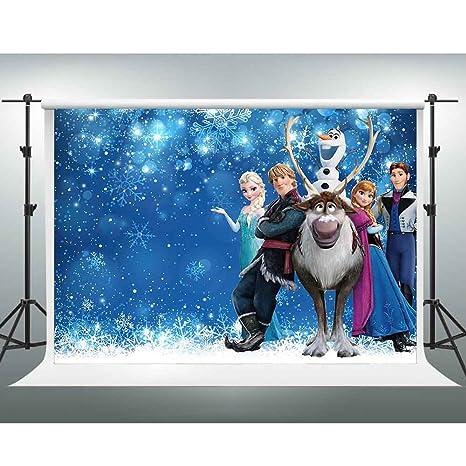 Amazoncom Gesen Frozen Backdrop 10x7ft Disney Princess Elsa And