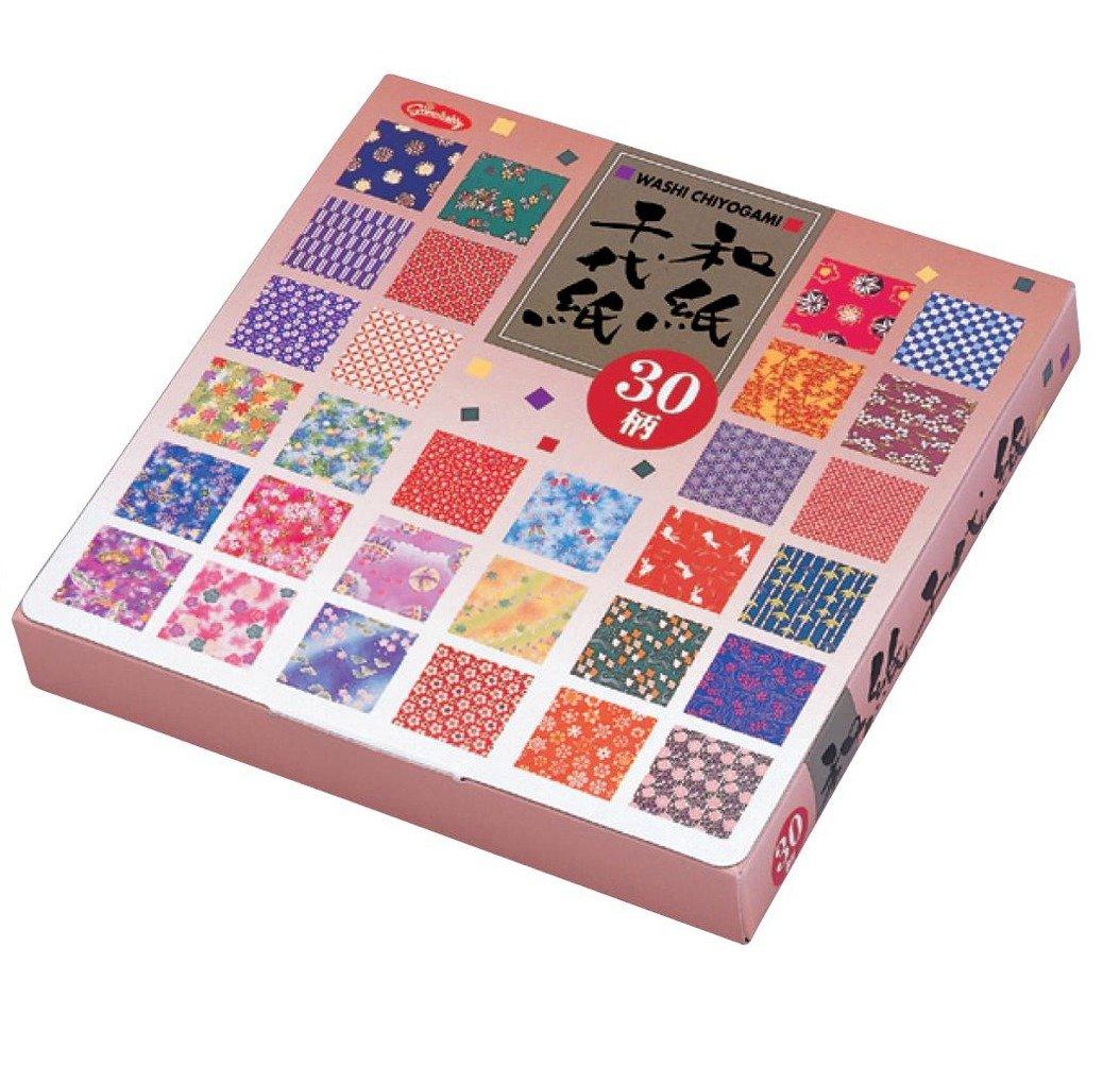 Carta Origami - Box Set di Carta Washi con motivi (Washi Chiyogami) - 30 motivi assortiti - 5 fogli di ogni motivo - 150 fogli in totale - 15cm x 15cm Generico 23-1999