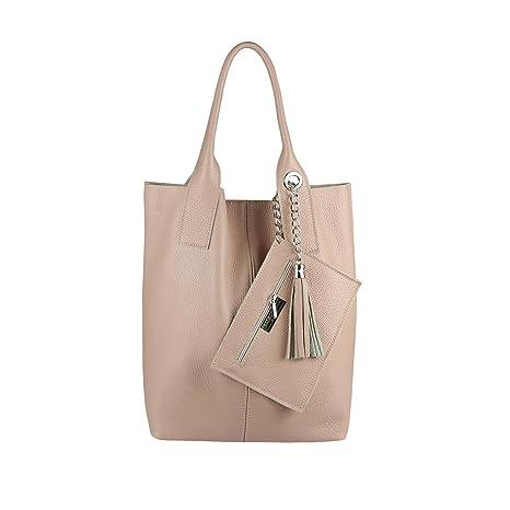 bb39486f9d979 OBC Damen Leder Tasche Shopper Hobo Bag Schultertasche Ledertasche DIN-A4  Umhängetasche Handtasche Henkeltasche Beuteltasche