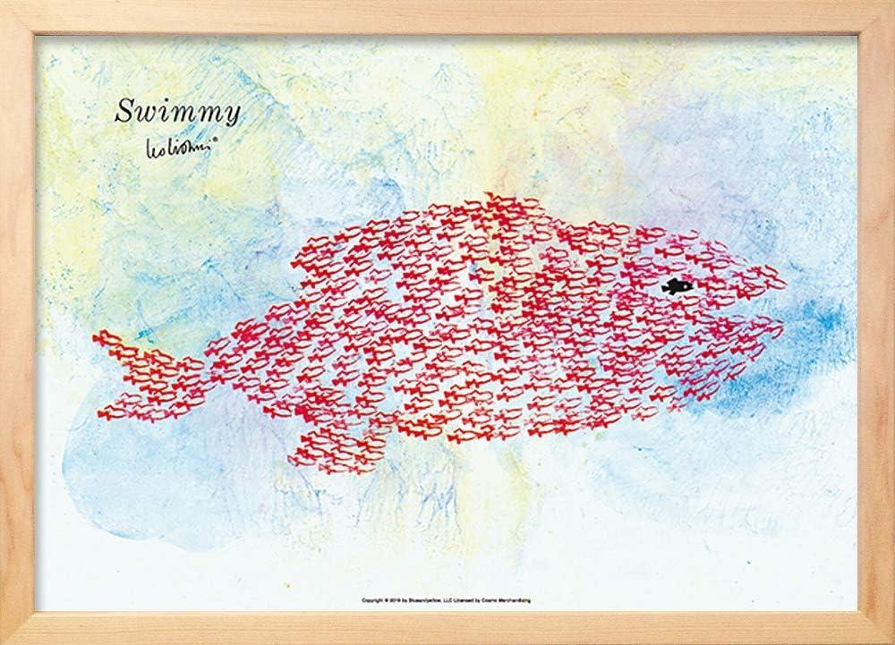 アートフレーム レオ・レオニ スイミー ジャイアントフィッシュ (Leo Lionni Swimmy-Giant Fish) 絵画 インテリア 壁掛け アート ポスター フック 海 ピカソ 額縁