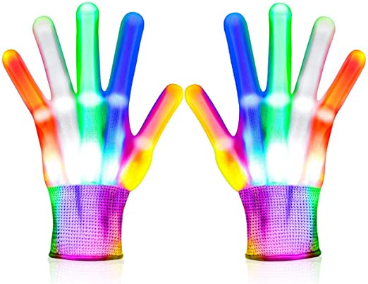 Toys for 3-12 Year Old Boys Girls LED Flashing Gloves Cool Toys for Kids Halloween Christmas Birthday Gifts for 8-12 Boys Cool Fun Toys for Boys Age 3-12 Stocking Stuffers for Boys LED Gloves for Kids