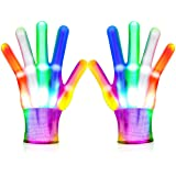 Toys for 3-12 Year Old Boys Girls LED Flashing Gloves Cool Toys for Kids Halloween Christmas Birthday Gifts for 8-12…