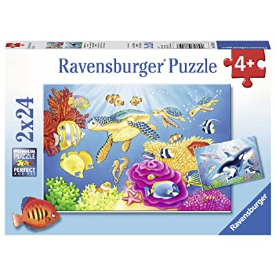 Ravensburger 07815, Vibrance Under The Sea 2 x 24 Piece Puzzles in a Box, 2 x 24 Piece Puzzles for Kids, Every Piece is Unique, Pieces Fit Together Perfectly: Toys & Games