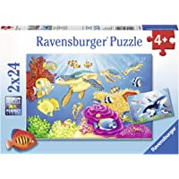 Ravensburger 07815, Vibrance Under the Sea 2 x 24 Piece Puzzles in a Box, 2 x 24 Piece Puzzles for Kids, Every Piece is…