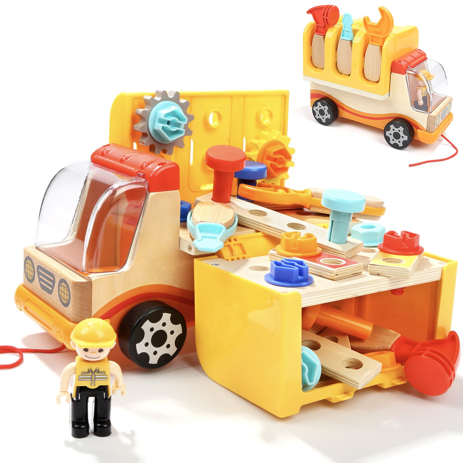 TOP BRIGHT Toddler Tools Toys Set for 2 Year Old Boy Gifts Trucks Sun Top
