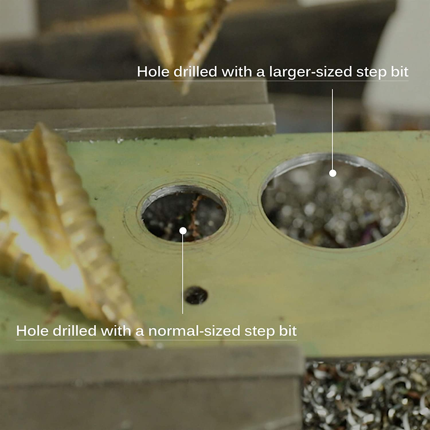 CO-Z Large HSS Spiral Groove Step Drill Bit Big Multiple Hole Stepped Up Bit for DIY Lovers 10 Sizes Titanium High Speed Steel 1//4 to 2-3//8 Drill Bit for Sheet Aluminium Metal Wood Hole Drilling