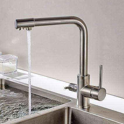 Sccot 3 Way rubinetti da cucina, acqua potabile, filtro dell\' acqua ...