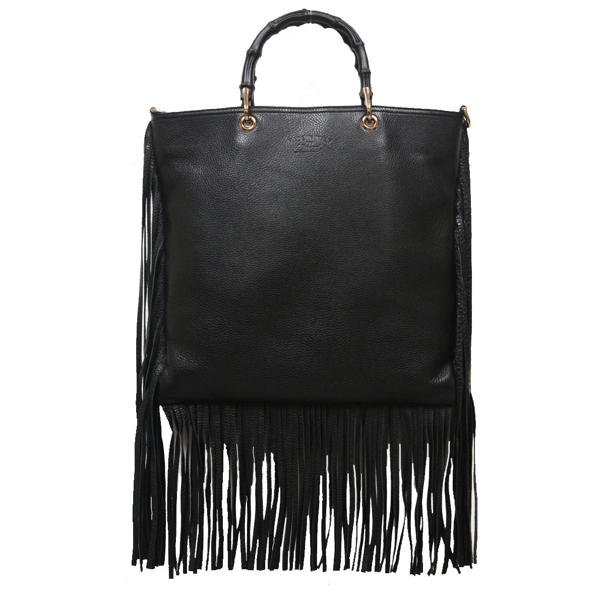 0b45ecc44c62 Amazon.com: Gucci Bamboo Shopper 2-Way Black Leather Fringe Hobo Bag 349195  A7M0V 1000: Shoes