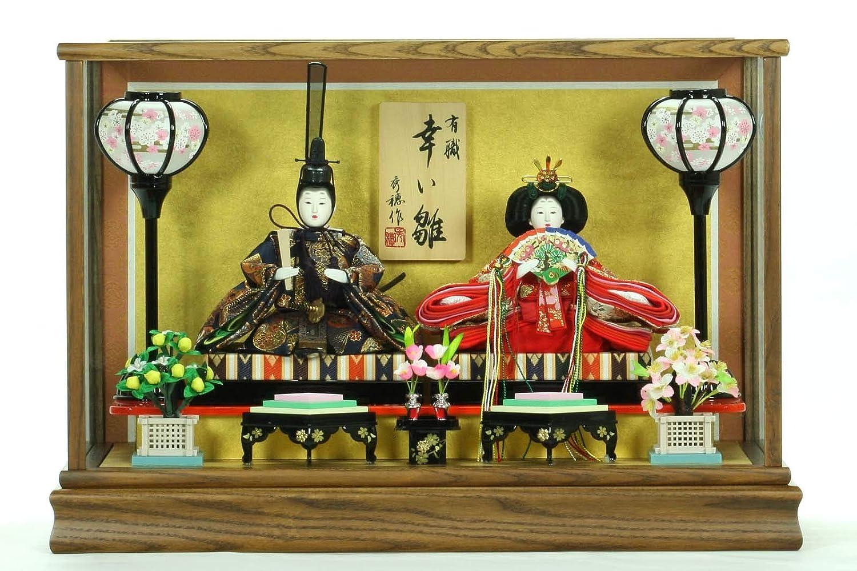 ひな人形ガラスケース入り親王飾り芥子玉 2022-018B   B07LDSJ4S7