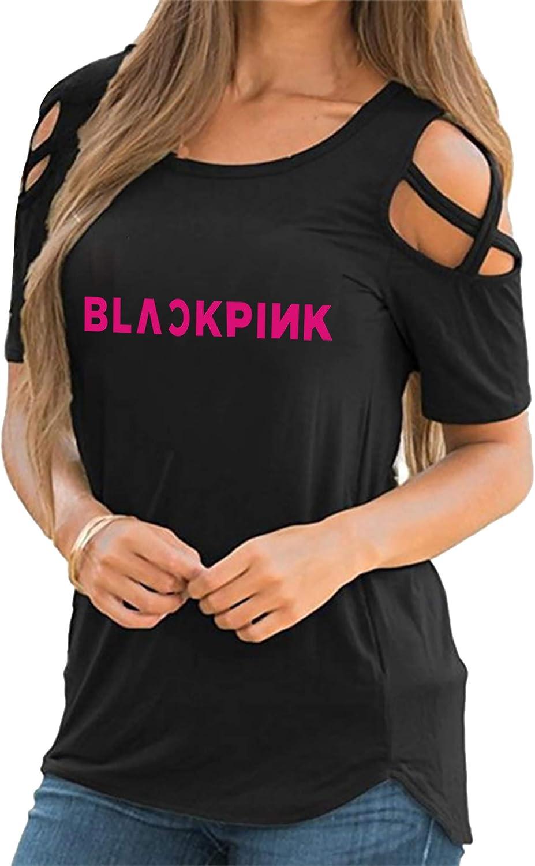KPOP Girl Group T-shirt Jennie Lisa Jisoo Rose Black Pink