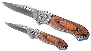 2 – Juego de cuchillos – 1 pieza grande y 1 pieza Cuchillo pequeño – Cuchillo Sport cuchillo cuchillo de caza de colección Cuchillo Hoja de acero ...