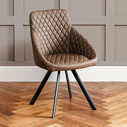 Fabulous The Furniture Market Jax Vintage Brown Faux Leather Dining Andrewgaddart Wooden Chair Designs For Living Room Andrewgaddartcom