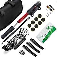 Mini Bomba de Aire de Bicicleta, Bomba Portatil de Bicicletas, con kit de reparación, Escofina de metal, Barandas de…