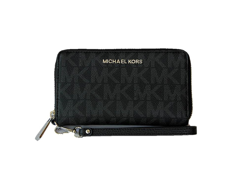 Michael Kors Jet Set Travel Large Multifunction PVC phonecase - Black
