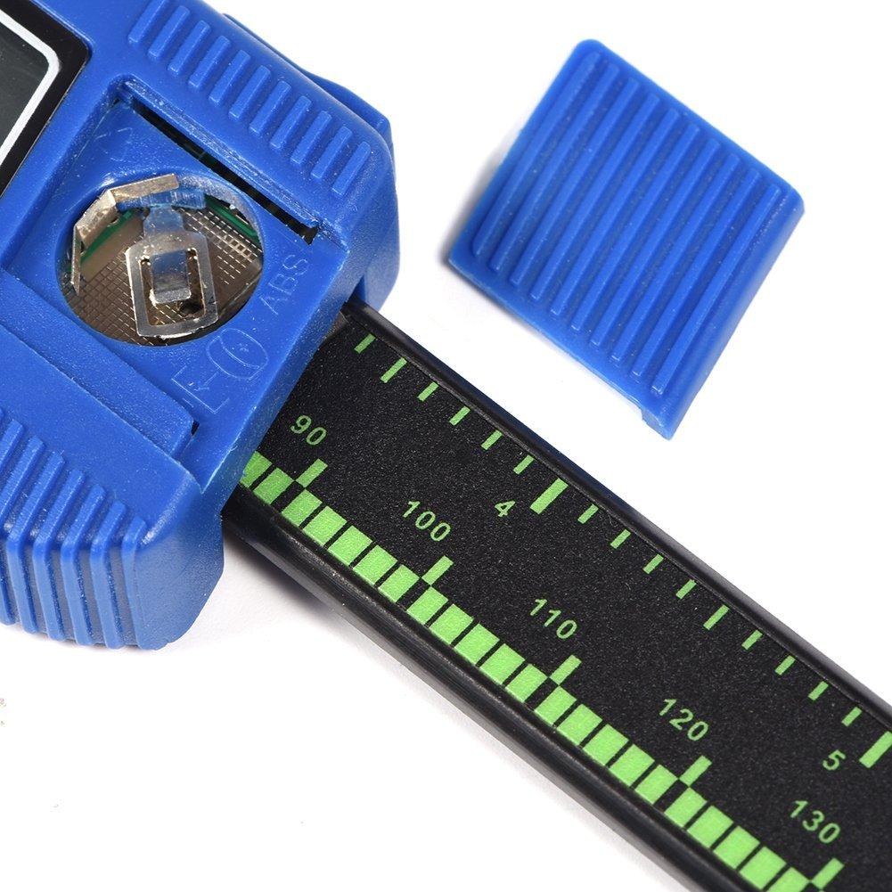 Digitale elektronische Digitaler Messschieber 150/mm Messschieber Schieblehre Vernier Indikator f/ür W/ählen Digital LCD Display zur Messung der Schritt der Tiefe Au/ßen Innen blau