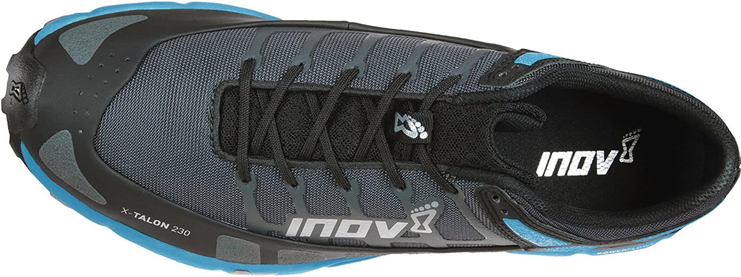 INOV-8 Mens X-Talon 230 – Lightweight OCR Trail Running Shoes – for Spartan, Obstacle Races and Mud Run – Grey Blue 14 M US