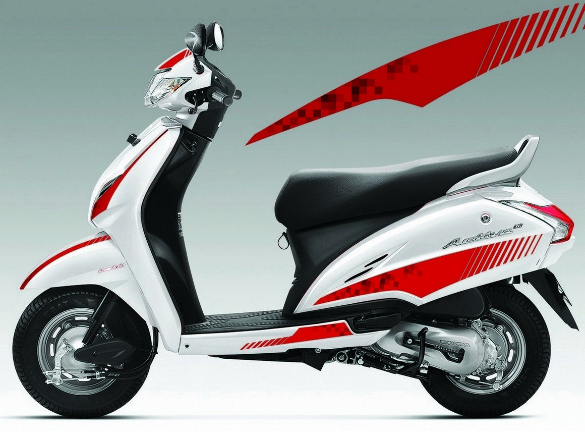 Autographix 1004344 street rider graphic decals for honda activa 3g set of 10 red amazon in car motorbike
