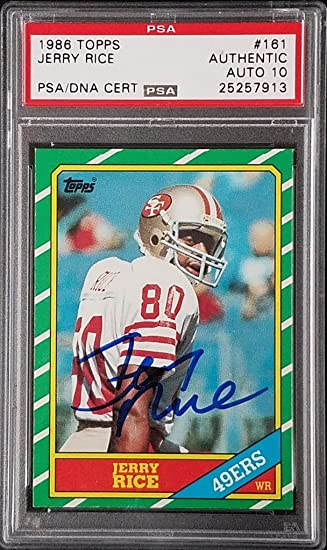 1986 Topps Jerry Rice #161 Rookie 49ers BCCG 9 Football Graded Card