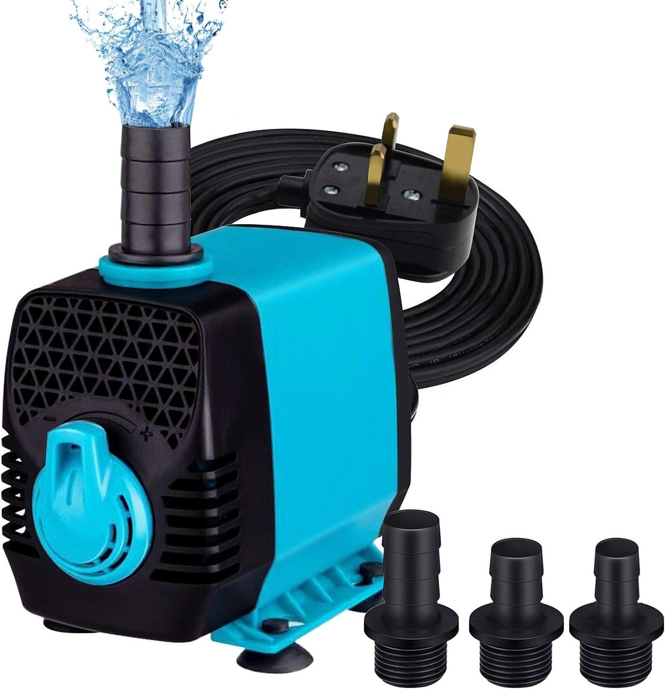 NO.17 Submersible Water Pump Aquarium Pump Ultra Quiet Pond Pump Underwater for Pond Garden Fountain Aquarium