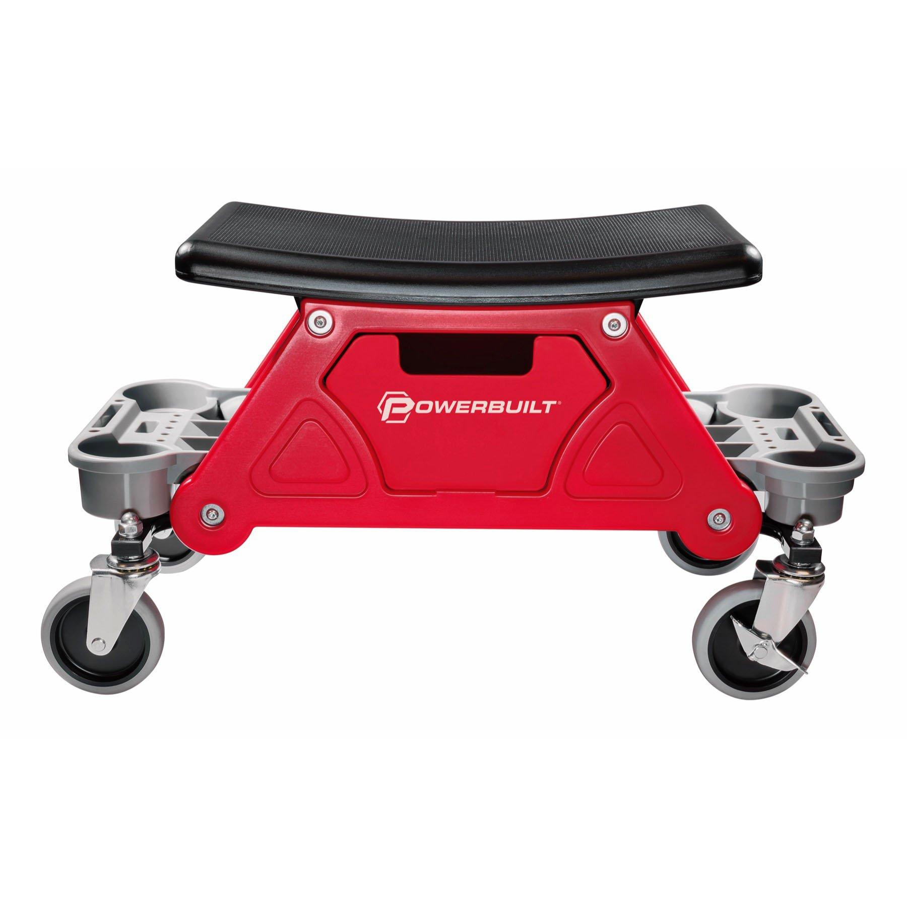Powerbuilt Heavy Duty Rolling Mechanics Seat Brake Stool 300lb Capacity - 240036 (Stool) by Powerbuilt (Image #5)