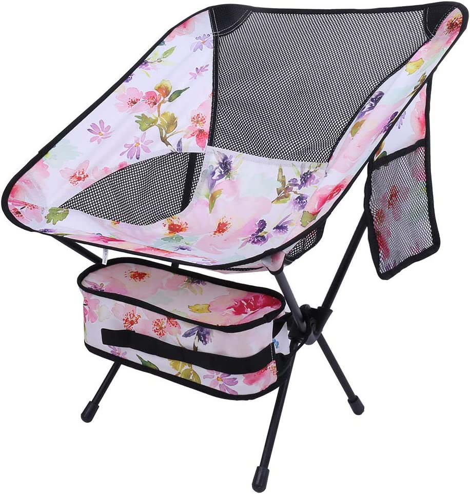 Picnic Hiking FANKUTOYS Camping Chairs Portable Folding Camp Chair with Carry Bag,Compact Ultralight Beach Chair for Outdoor Camp