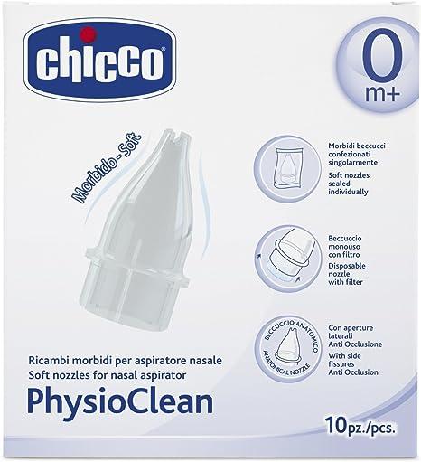 Chicco Physio Clean - Pack de 10 recambios para aspirador nasal: Amazon.es: Bebé