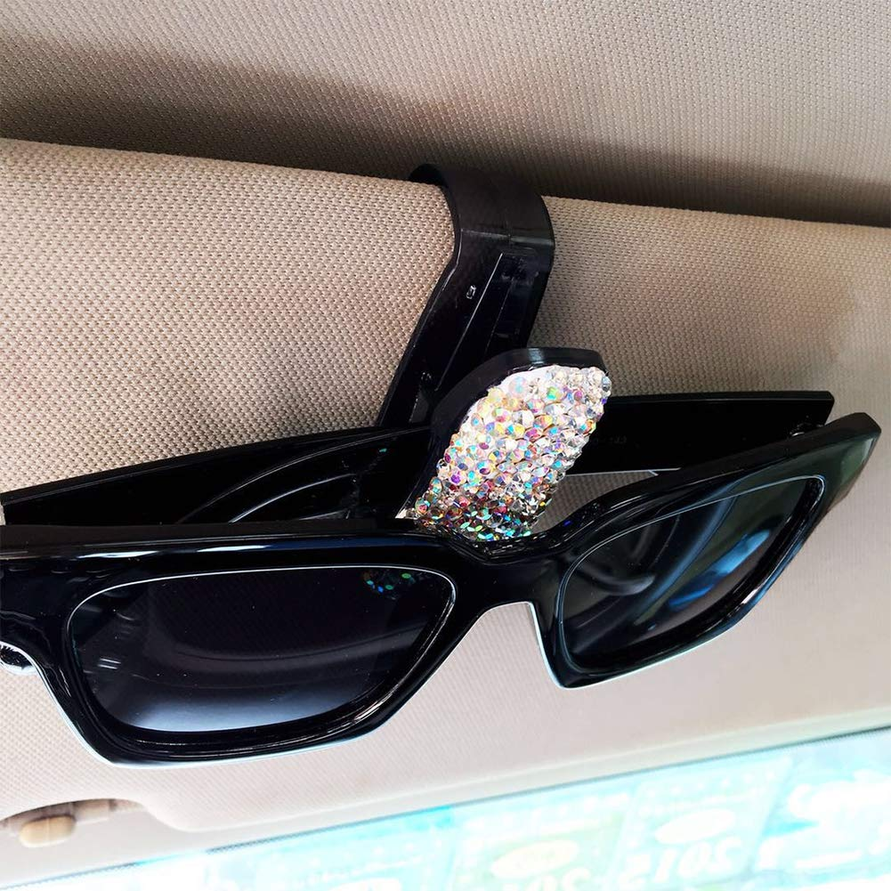 ZqiroLt Sonnenblende Brille Clip Karte Ticket Holder Clamp Auto Auto Sonnenbrille Brillen Ab