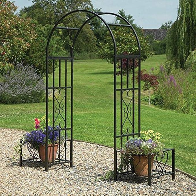 XLOO - Arco de Hierro para jardín, árbol de jardín, pérgola para ...