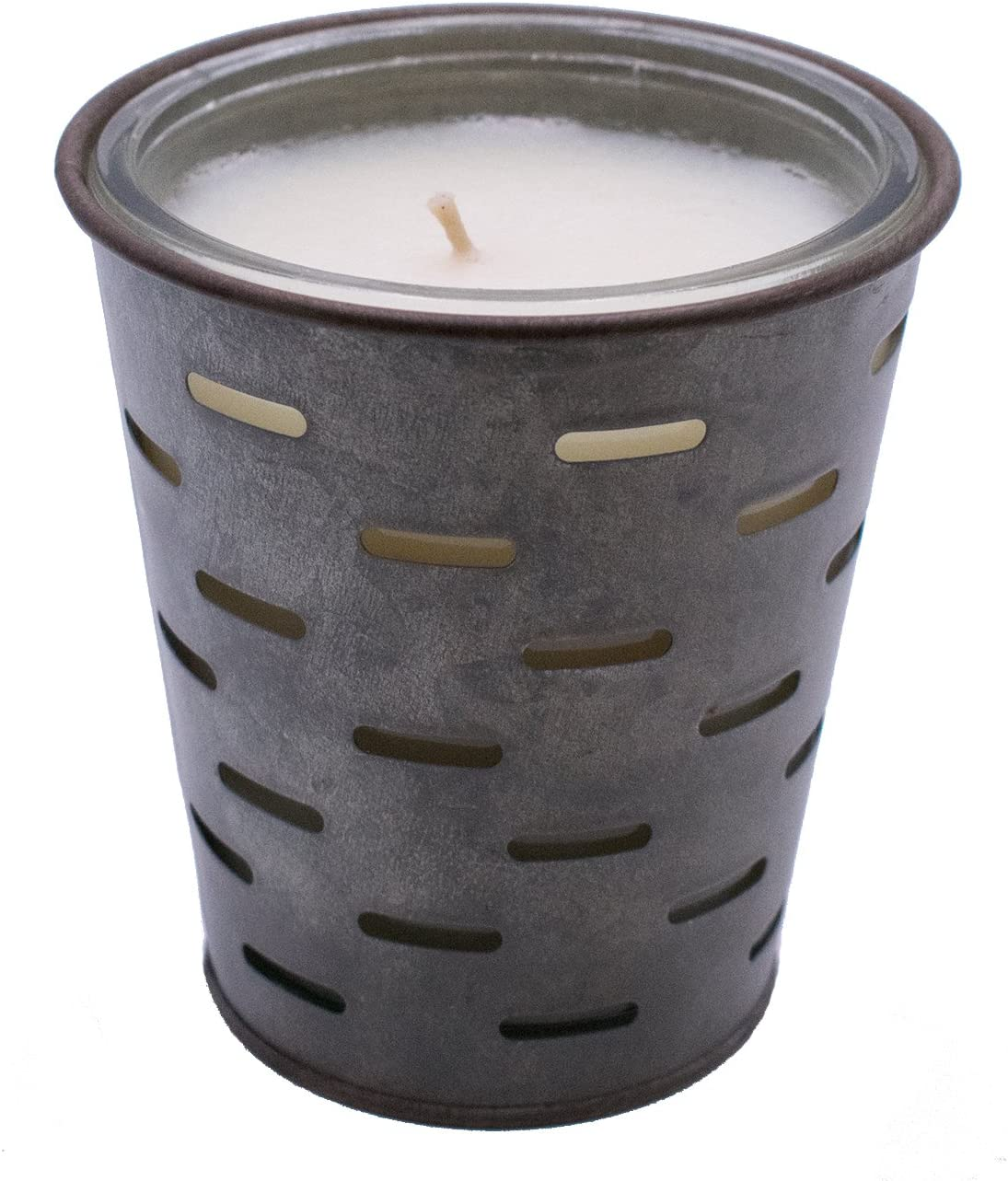 Red Co. Sweet Olive, Olive Bucket Fragrance Candle, Highly Scented, Glass Jar in Galvanized Tin Pot, 13oz