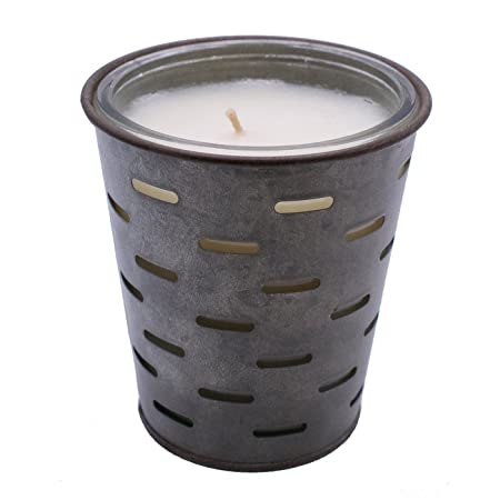 Red Co Highly Scented Glass Jar in Galvanized Tin Pot Olive Bucket Fragrance Candle 13oz Autumn Gatherings